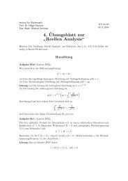 """4.¨Ubungsblatt zur """" Reellen Analysis"""""""