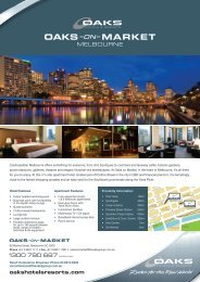 Download fact sheet - Oaks Hotels & Resorts
