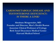 Testosterone Deficiency and Cardiometabolic Disease