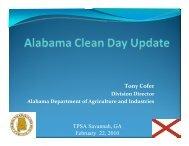 Tony Cofer - The Pesticide Stewardship Alliance TPSA