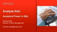 Analyze This! Analytic Power in SQL - NoCOUG