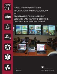 information-sharing guidebook transportation management centers ...