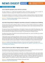 News Digest December, 2012 - IOM