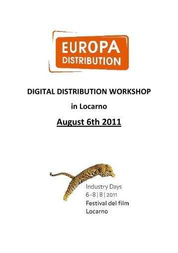 August 6th 2011 - Europa Distribution