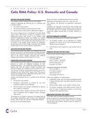 RMA Policy US and Canada - Calix