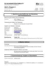 EU-SICHERHEITSDATENBLATT HbA1c, Reagenz 3 - diatools AG