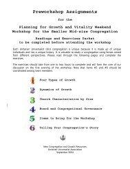 Preworkshop Assignments - Unitarian Universalist Association