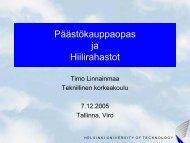 Päästökauppaopas ja Hiilirahastot - Green Net Finland