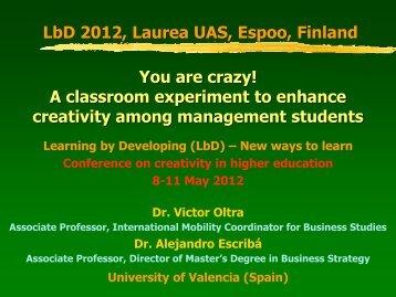Presentation slides - LbD Conference