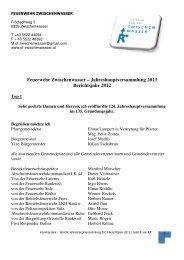 Bericht Kommandant - Gemeinde Zwischenwasser