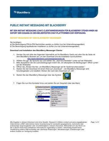 public instant messaging mit blackberry - wireless & mobile