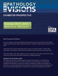exhibitor prospectus - Digital Pathology Association