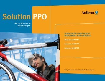 Solution PPO Plan Comparison Summary 2-50 - Beere & Purves