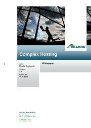Complex Hosting - ADACOR Hosting GmbH