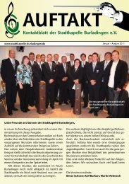 Fotogalerie Januar – August 2011 - Stadtkapelle Burladingen eV