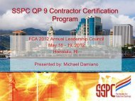 SSPC QP 9 Contractor Certification Program - Finishing Contractors ...