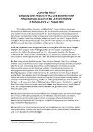 Carta dos 4 Rios - Gesellschaft für bedrohte Völker