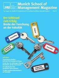 Munich School of Management Magazine - Fakultät für ...