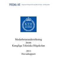 Medarbetarundersökning inom Kungliga Tekniska Högskolan
