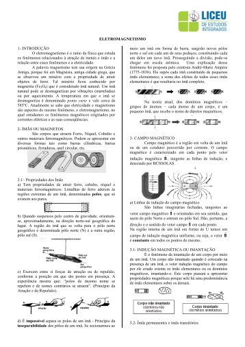 Apostila de Física - Magnetismo e Eletromagnetismo - liceu.net