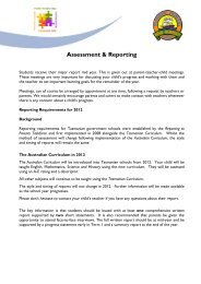 Assessment & Reporting - Department of Education Schools Websites