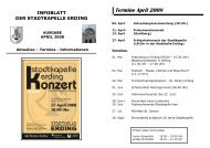 Termine April 2008 - Stadtkapelle Erding eV
