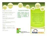 Folder PROEJA .pdf - Portal do Instituto Federal Fluminense