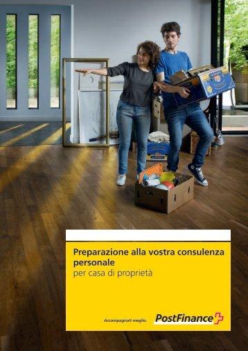 Preparazione al colloquio di consulenza (PDF) - Postfinance