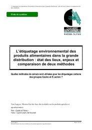 L'étiquetage environnemental des produits alimentaires dans la ...
