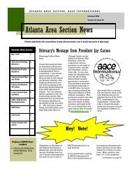 February 2010 - AACE International - Atlanta Section