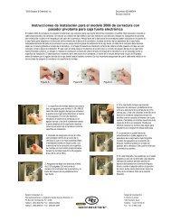 Instrucciones de instalación para el modelo 2006 de cerradura con ...