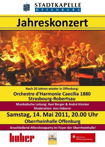 Jahreskonzert Samstag, 14. Mai 2011, 20.00 Uhr Oberrheinhalle ...