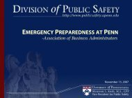 Campus Safety - Office of the Vice President for Finance and Treasurer