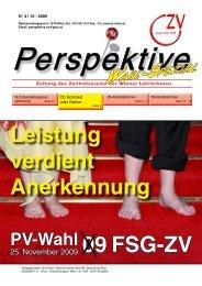 Perspektive Oktober 2009 - Zentralverein der Wiener Lehrerschaft
