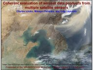 Coherent evaluation of aerosol data products from ... - AeroCom
