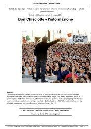 Don Chisciotte e l'informazione - Close-Up.it