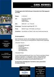 Unfallrettung Seminar und Fortbildungen für ... - Fire-Circle