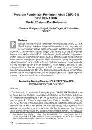 Program Pembinaan Pemimpin Abad 21(P3-21) BPK PENABUR ...