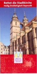 Rettet die Stadtkirche - Stadtkirche Bayreuth