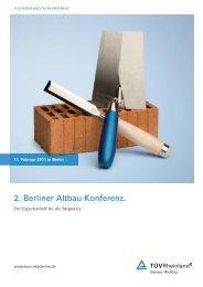 2. Berliner Altbau-Konferenz. - Tuv