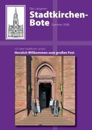 125 Jahre Stadtkirche - Evangelische Stadtkirche Langen