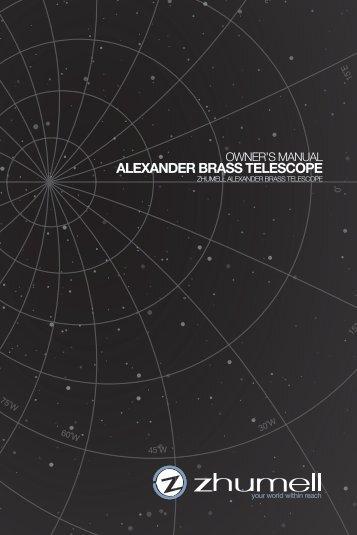 ALEXANDER BRASS TELESCOPE - Telescopes.com