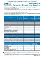 BCN Woman's Choice Referral and Clinical Review Guidelines