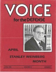 4 - Voice For The Defense Online