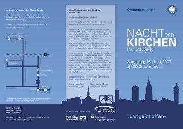 Lange(n) offen - Evangelische Stadtkirche Langen