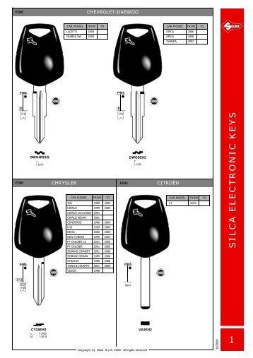 SILCA ELECTRONIC KEYS - Dar-Mar