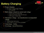 Battery Charging Parameters - African Energy