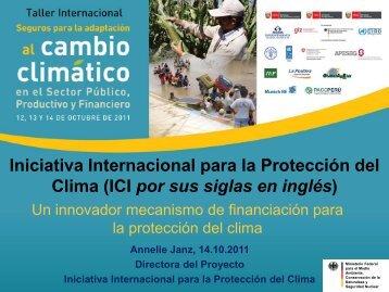 Iniciativa Internacional para la Protección del Clima - Proyecto de ...