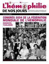 Automne 2004 - Société Canadienne de l'Hémophilie