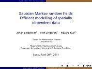 Gaussian Markov random fields: Efficient modelling of spatially ...